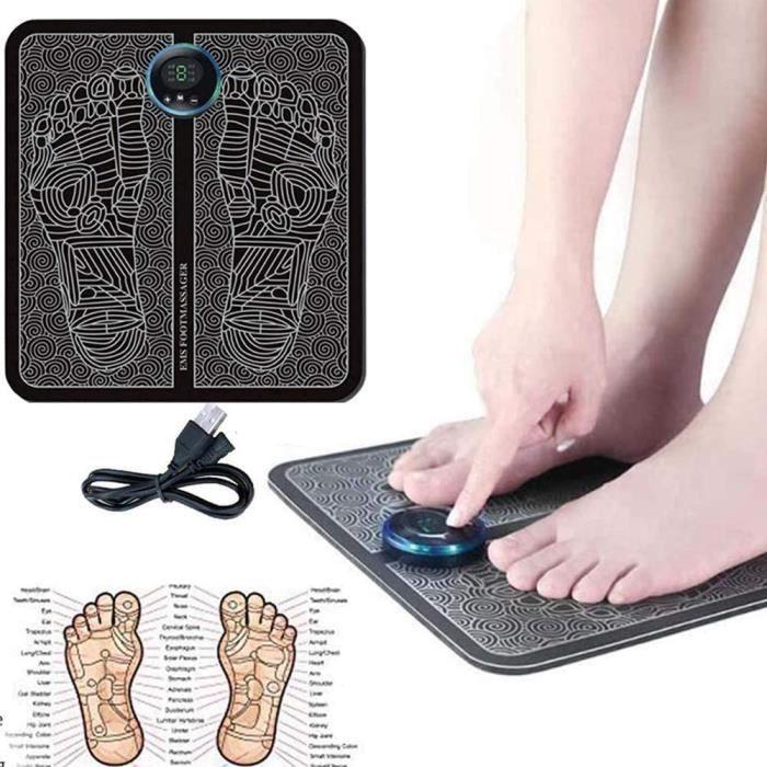 THALASSO PIEDS - THALASSO MAINS Masseur de pied de remodelage de jambe EMS, tapis de pied de massage rechargeable USB portable182