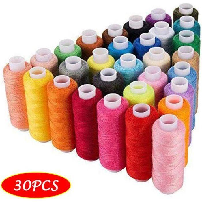 Fils à coudre 30 couleurs polyester 250 mètres par bobines pour la main et la machine à coudre Couture 739