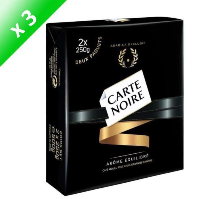 [LOT DE 3] CARTE NOIRE Café moulu - 2 x 250 g