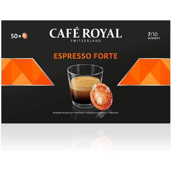 CAFE ROYAL PRO - 150 CAPSULES COMPATIBLES NESPRESSO PRO® - ESPRESSO FORTE - 3 Boites de 50 Capsules Compatibles Nespresso Pro®