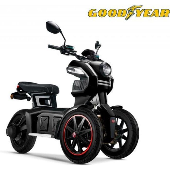 Grand scooter électrique 3 roues design Good Year EGO2 DOOHAN ITANK 50 noir moteur Bosch