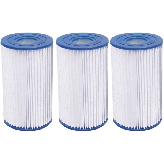 Cartouche de filtration H&J de type A-C - Lot de 3