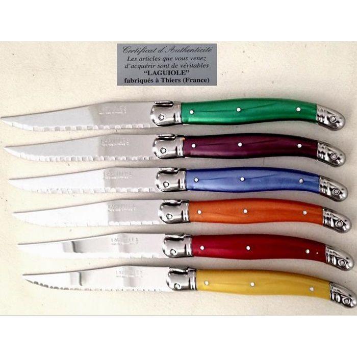 6 Couteaux laguiole veritable FRANCE couvert de ta