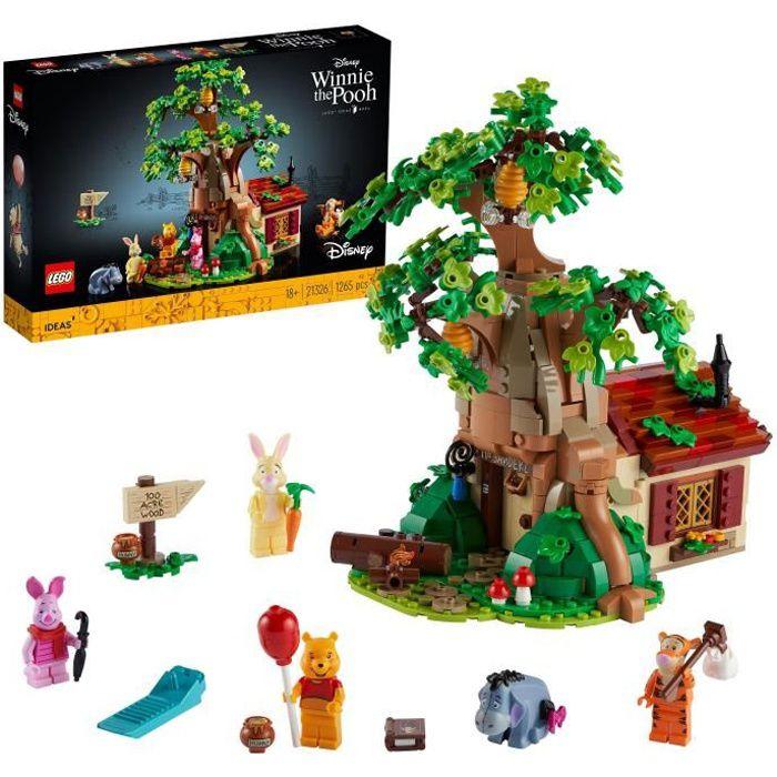 LEGO® 21326 Ideas Ensemble LEGO Disney pour adultes Winnie l'Ourson, Maison à exposer, Figurine LEGO Bourriquet, Figurine Porcinet