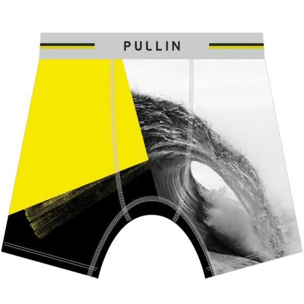 PULL IN Boxer Long Homme Microfibre AFRAME Gris Jaune