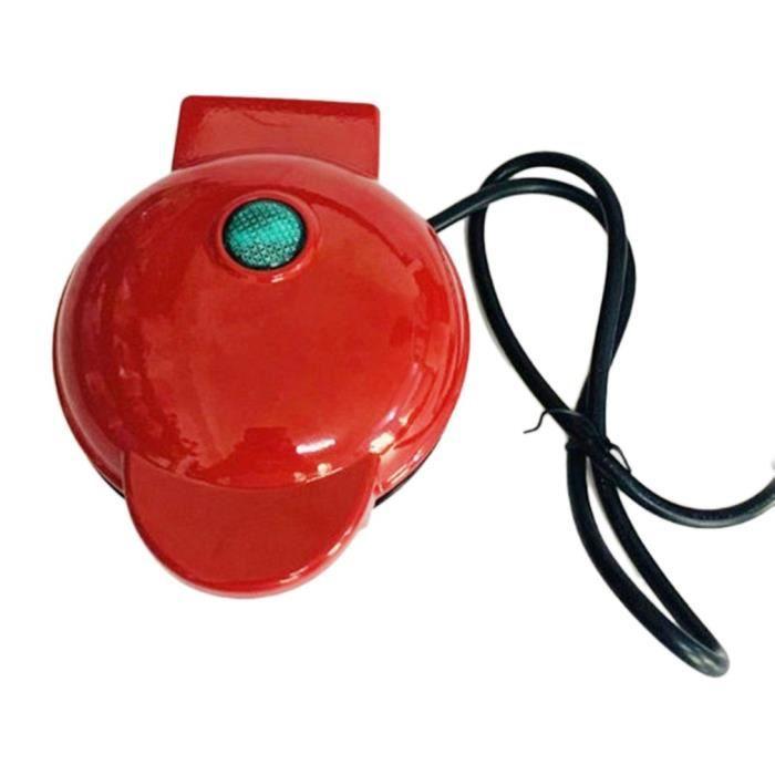 220V-350W Gaufrier portable en rouge facile à utiliser