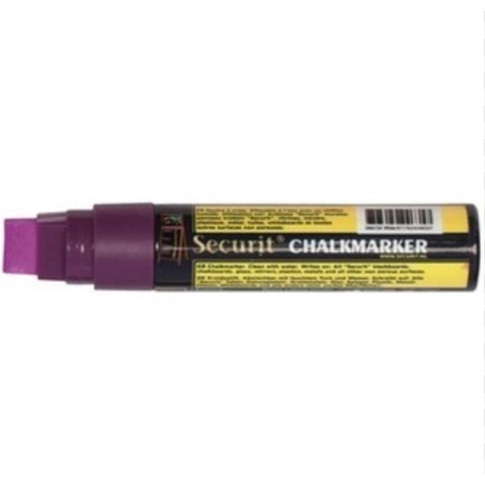 Gros marqueur toutes surfaces Securit Chalkmarker marker craie liquide Chalk - style posca - 15mm VIOLET PURPLE Tag Graffiti art