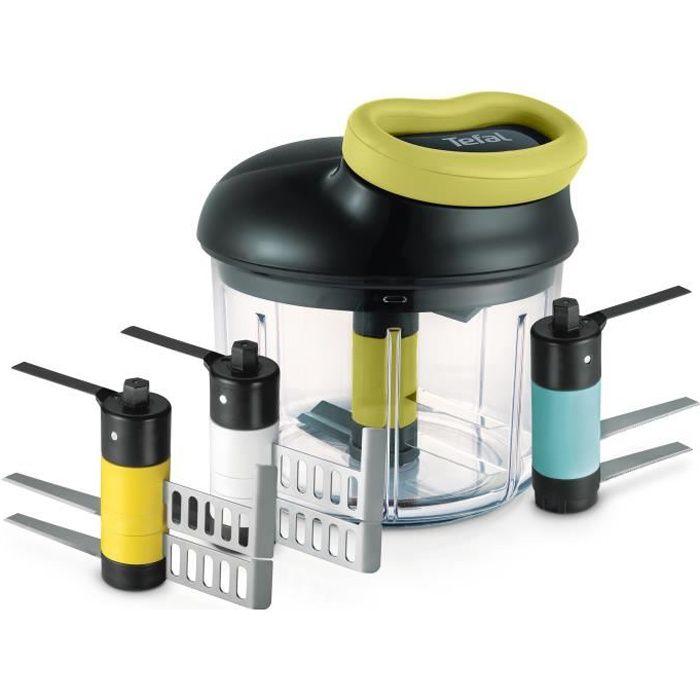 TEFAL HACHOIR 5 secondes Maxi Kit 900 ml (émulsion + glace + purée + lames multi-usages) K1321044