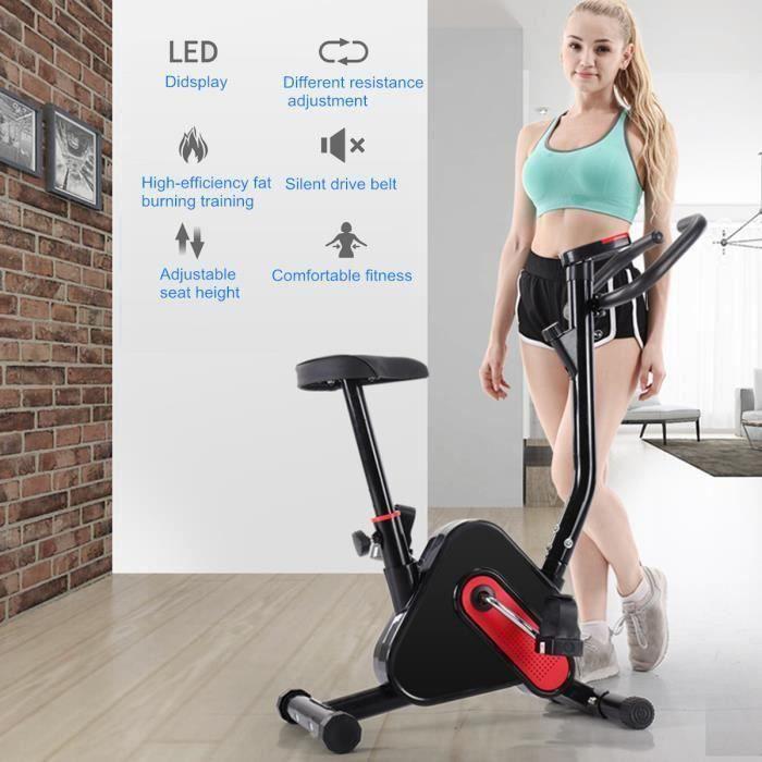 TEMPSA Vélo d'appartement Bras Jambes Entrainement Ecran LED Musculation Fitness