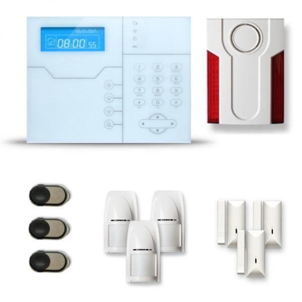 Alarme maison sans fil SHB 3 à 4 pièces mouvement + intrusion + sirène extérieure - Compatible Box internet et GSM