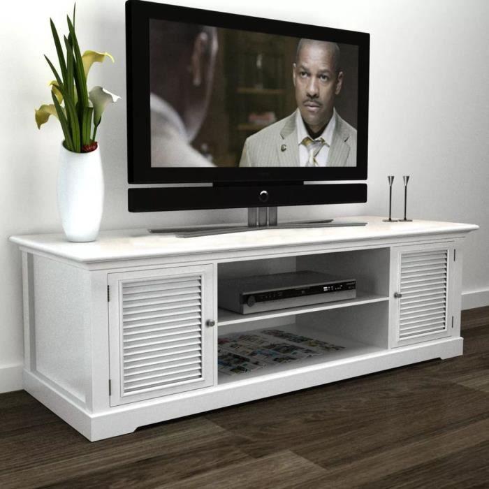 Meuble de TV Bois Blanc