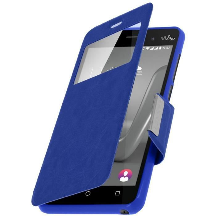 Coque Etui Protection WIKO JERRY BLEU