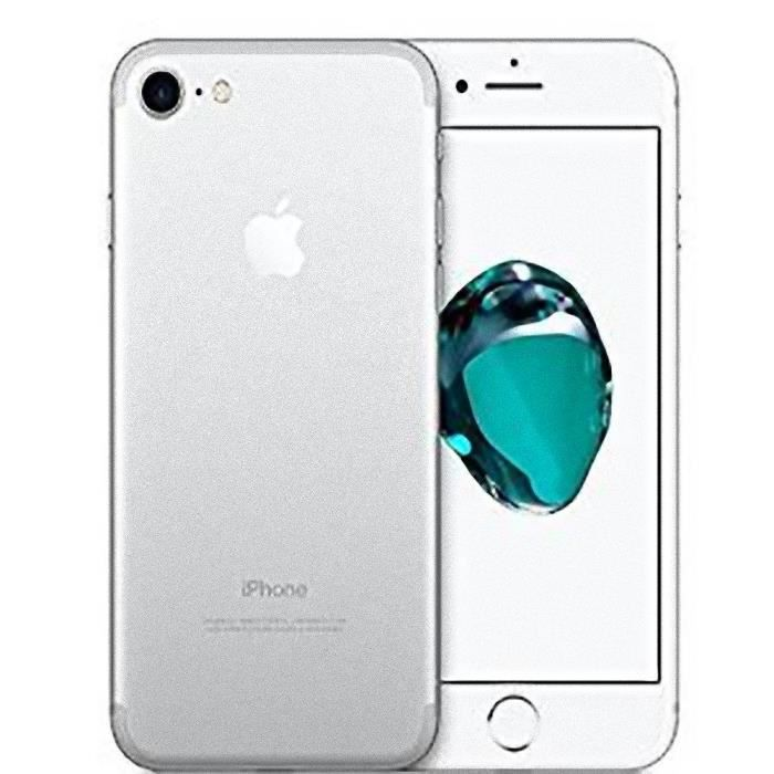 apple iphone 7 32 gb argent smartphone libre de 4 7 retina hd ios10 a1 achat smartphone. Black Bedroom Furniture Sets. Home Design Ideas