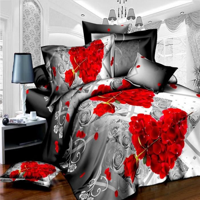 housse de couette 200 x 230cm 3d adulte parure de lit adulte bedding set luxury couette de lit. Black Bedroom Furniture Sets. Home Design Ideas