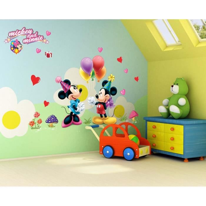 d coration de chambre enfants fond de la classe de chambre mur stickers micky mickey dessin. Black Bedroom Furniture Sets. Home Design Ideas