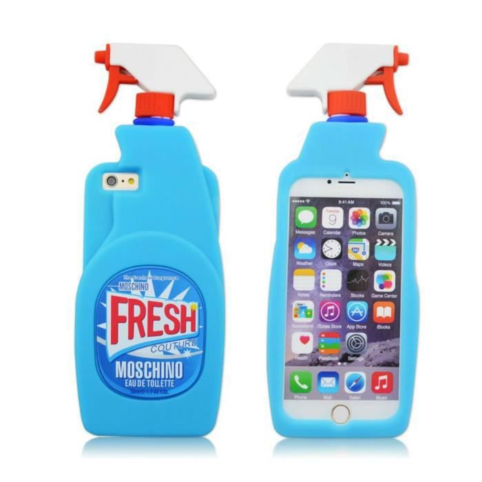 coque iphone 6s plus iphone 6 plus bleu moschino