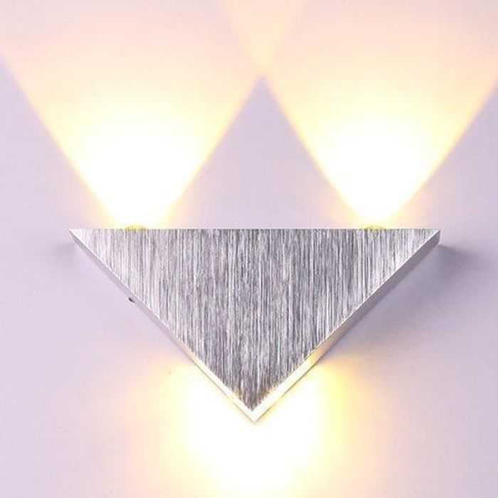 applique murale interieur led lampe de mur lampe led triangle lampe conomie con u en. Black Bedroom Furniture Sets. Home Design Ideas