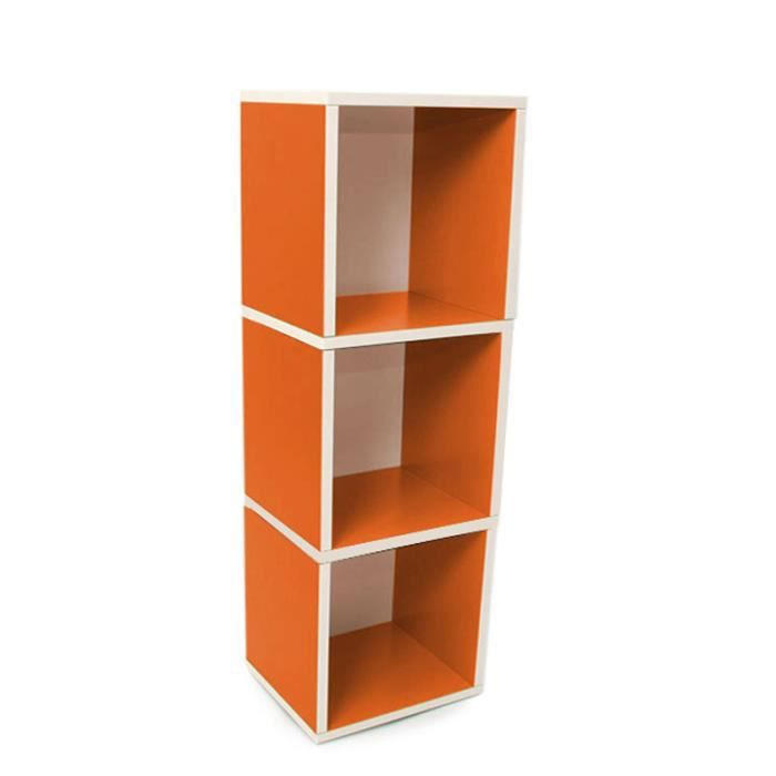 etagere de rangement orange. Black Bedroom Furniture Sets. Home Design Ideas