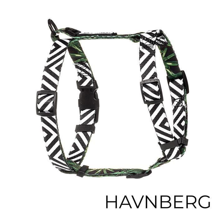Harnais Chien HAVNBERG camouflage /à carreaux turquoise orange vert Taille S pour Chien petit Mod/èle Camo