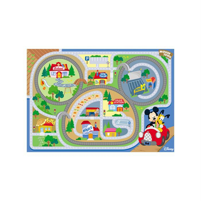 tapis enfant mickey on the road 100x170 waltdisney achat vente tapis les soldes sur. Black Bedroom Furniture Sets. Home Design Ideas