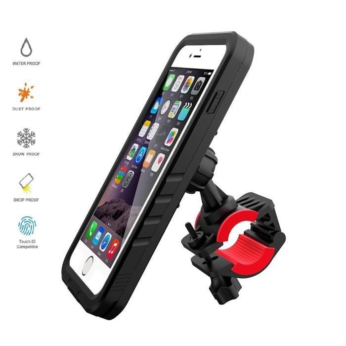 bicyclette support impermeable coque iphone 7 8