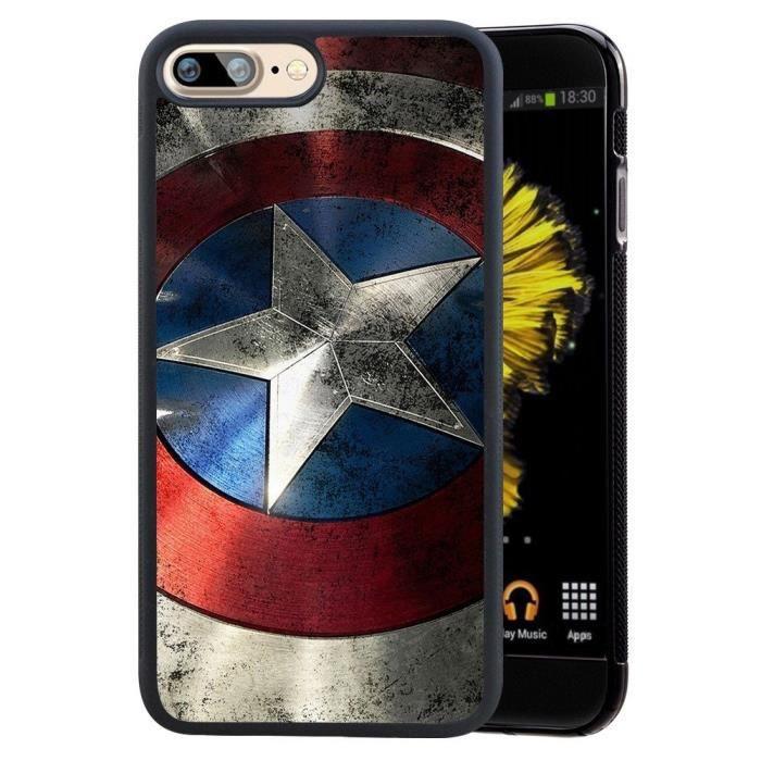 Coque pour Apple Iphone 7 Avengers Rouge Marvel Super Heros ...