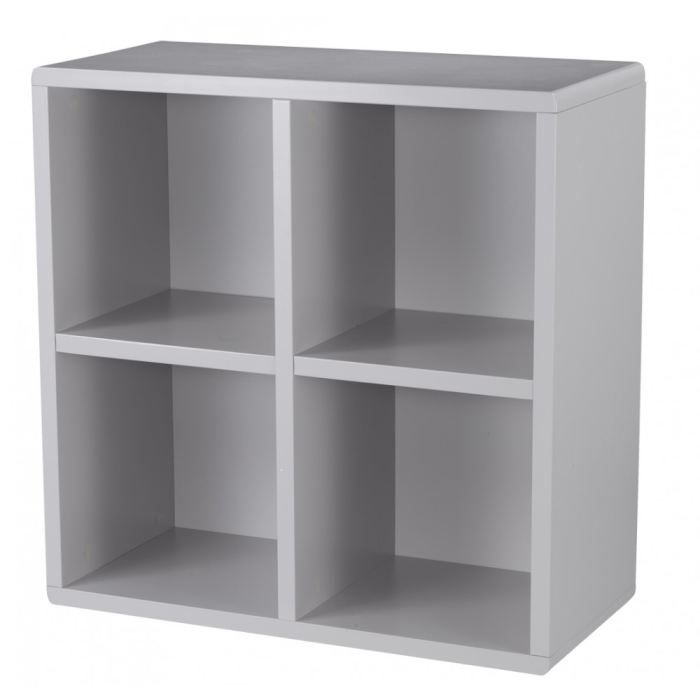 Cube de rangement 4 cases gris id 39 clik achat vente for Meuble 4 cases but
