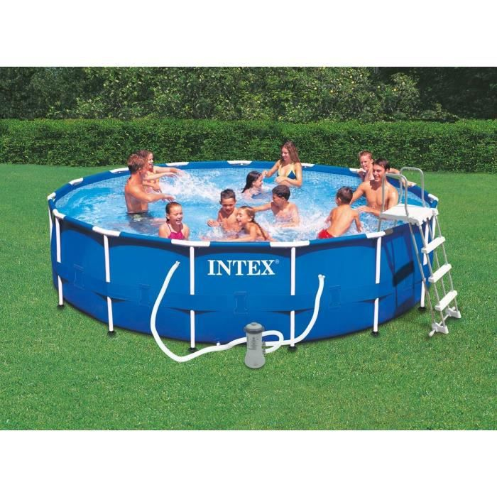 Piscine tubulaire intex 4 57 x m achat vente for Reparer piscine intex tubulaire