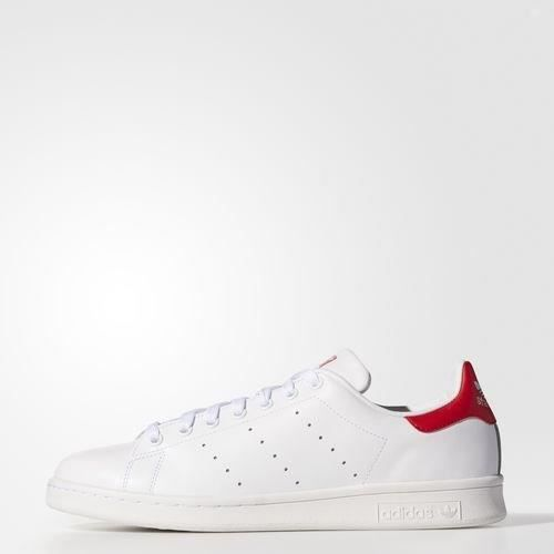 get new nice cheap quite nice ADIDAS ORIGINALS Baskets Stan Smith - Homme - Blanc et rouge ...