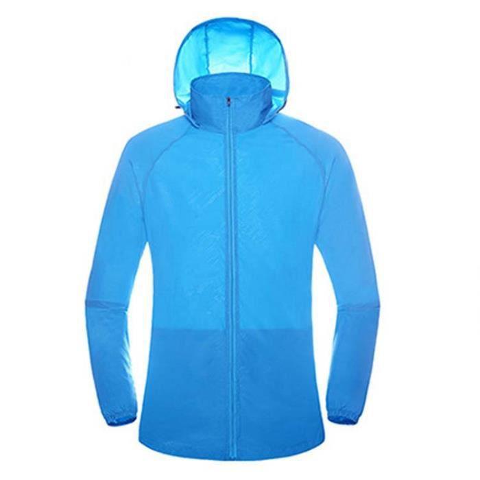 CMP fonction Gilet Gilet on Vest Zip Hood bleu foncé coupe-vent