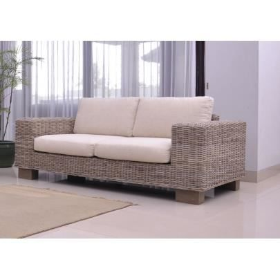 canap 2 places rotin hevea achat vente canap sofa divan cdiscount. Black Bedroom Furniture Sets. Home Design Ideas