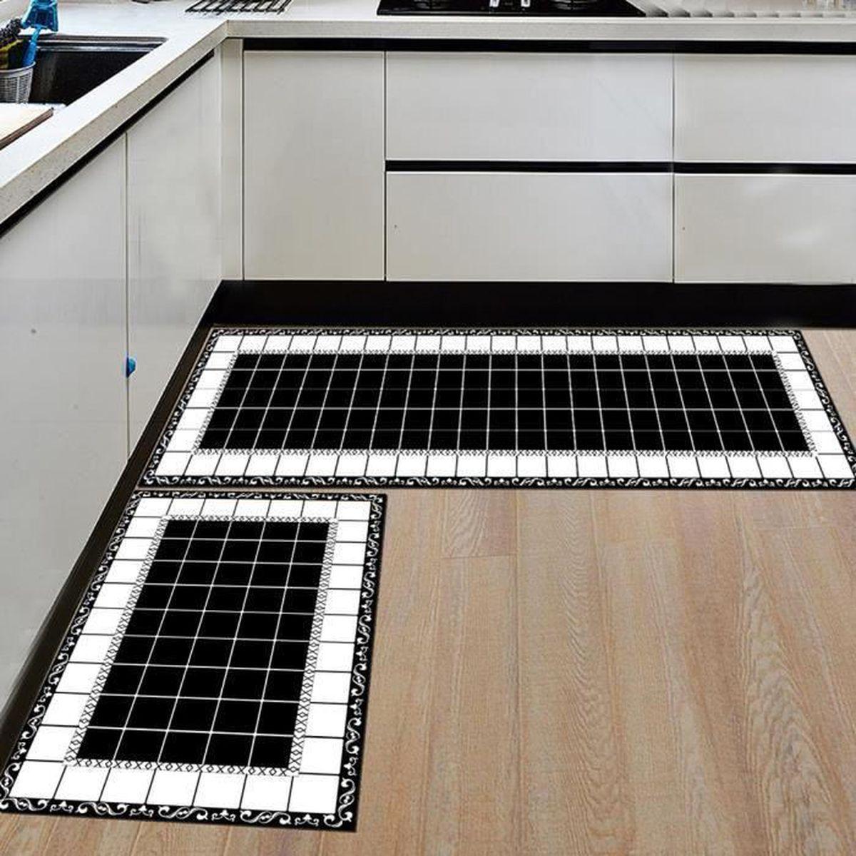 9pcs Tapis de cuisine anti-dérapant pour tapis de cuisine
