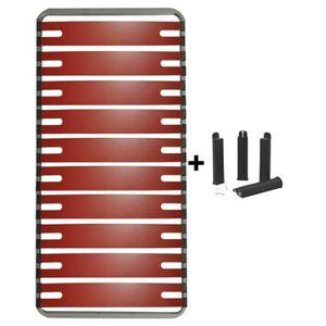 SOMMIER RedLine - Pack Sommier 10 Lattes 90x190cm + Pieds