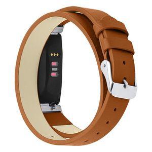 BRACELET DE MONTRE Bracelet double tour en cuir avec bracelet de mont