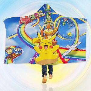 COUVERTURE - PLAID 3D  Hooded Blanket for Pokemon 8109   Couverture à
