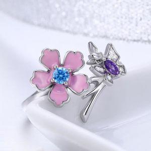 BAGUE - ANNEAU WOSTU Fleur ouverte  Bague femmes Bijoux Été Colle