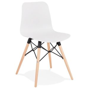 CHAISE CHAISE SCANDINAVE 'GINTO' BLANCHE DESIGN DIMENSION