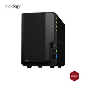 DISQUE DUR INTERNE Synology DS218 NAS 4To (2x 2To) WD Red