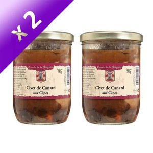 PLAT A BASE DE VIANDE Lot 2 Civets de Canard aux cèpes 750g - Comte de l