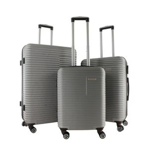VALISE - BAGAGE Lot de 3 valises rigides 4 roues Argent 79 LO3P SI