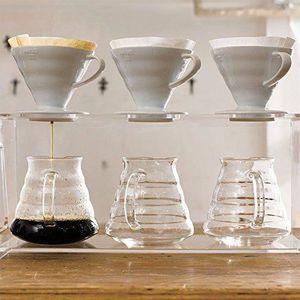 HARIO V60 résistant à la Chaleur Verre Coffee Dripper bois d/'olivier 02 VDG-02-OV
