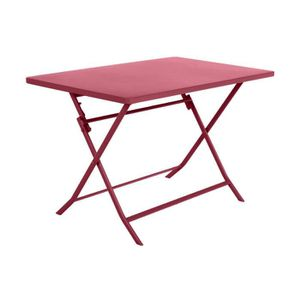 Table de jardin Hespéride rectangle Greensboro 110 x 70 cm Cerise ...