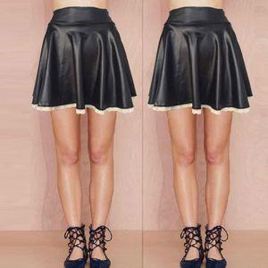 JUPE Jupes courtes en cuir sexy avec jupe courte en den
