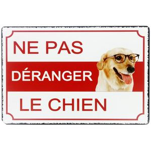 plaque chien humour achat vente pas cher. Black Bedroom Furniture Sets. Home Design Ideas