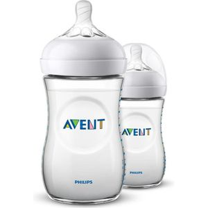 BIBERON  PHILIPS AVENT SCF033/27 Lot de 2 biberons Natural