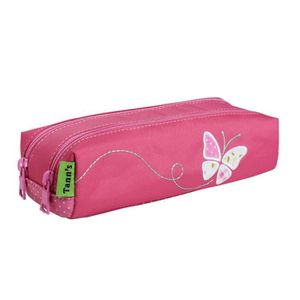 TROUSSE À STYLO Trousse double Collector Girl Butterfly 7 ROSE