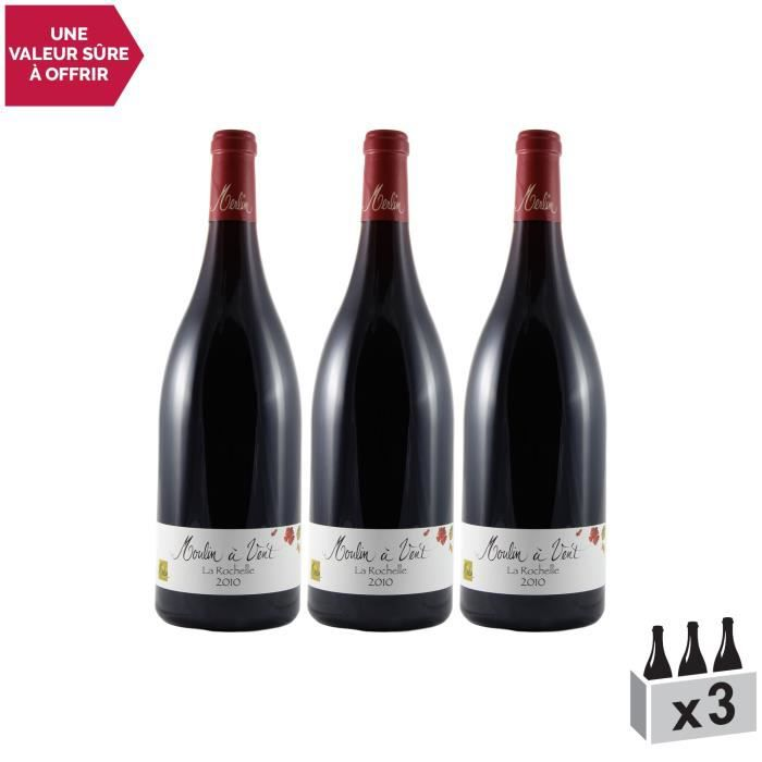 Moulin-à-Vent Rouge 2010 - Lot de 3x150cl - Domaine Olivier Merlin - Vin AOC Rouge du Beaujolais - Cépage Gamay