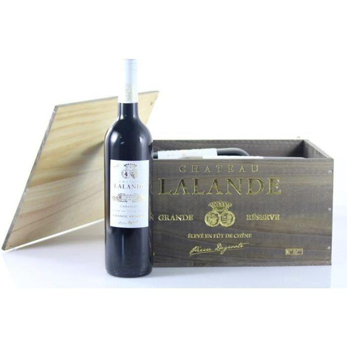 Caisse Bois Vin Château Lalande Grande Réserve - AOP Cabardès
