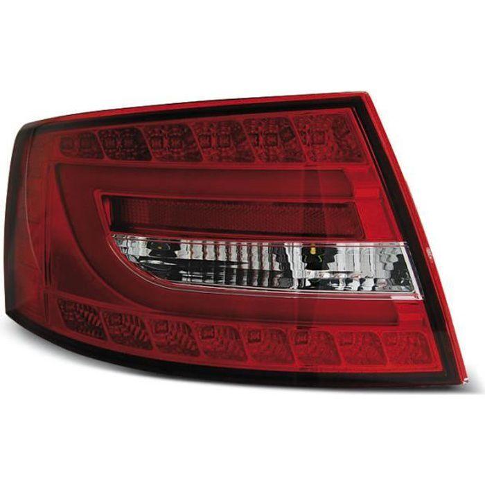 Paire de feux arriere Audi A6 C6 berline 04-08 rouge blanc led LTI 7 pins (UC5)