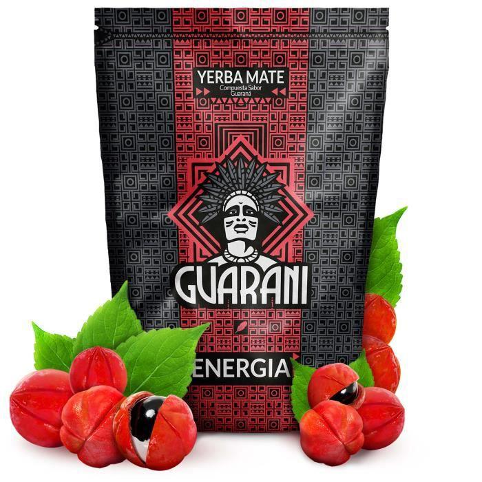 Yerba Maté Guarani Energia - Guarani Energia 500g - Yerba maté du Paraguay - Haute qualité - Forte stimulation - Yerba maté au fruit